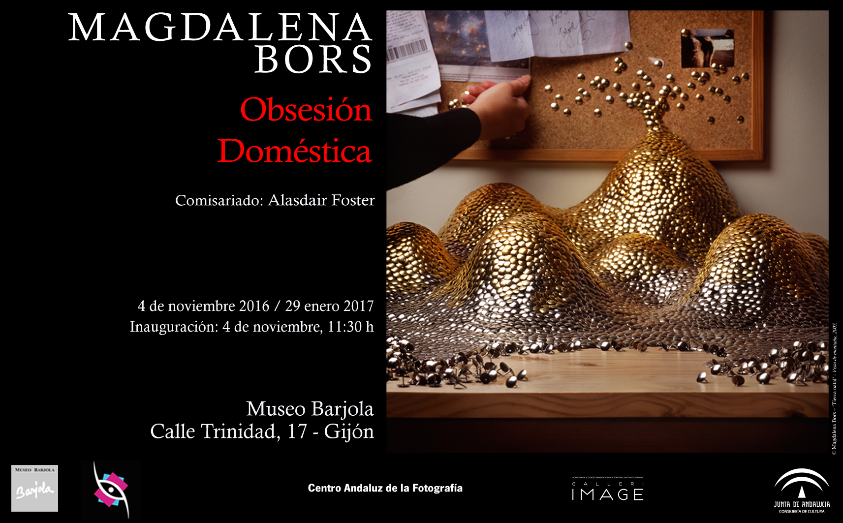 Poster from Museo Barjola, Gijon, last stop on the exhibition tour