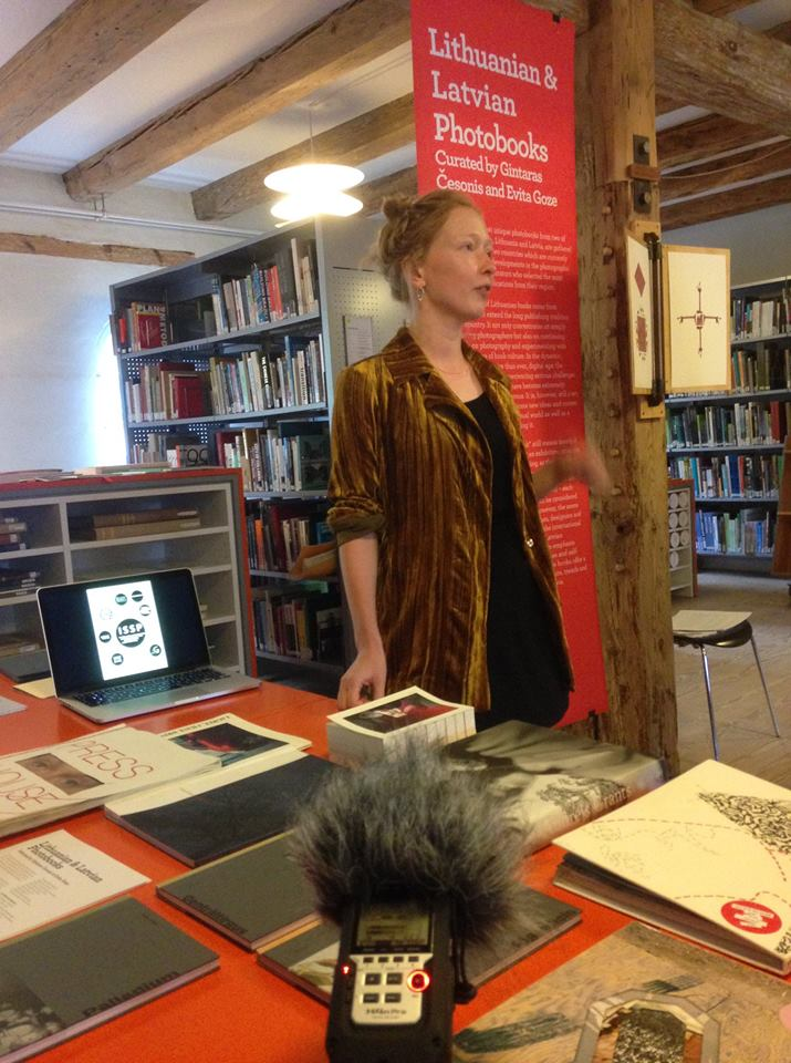 Evita Goze presented Latvian photobooks.