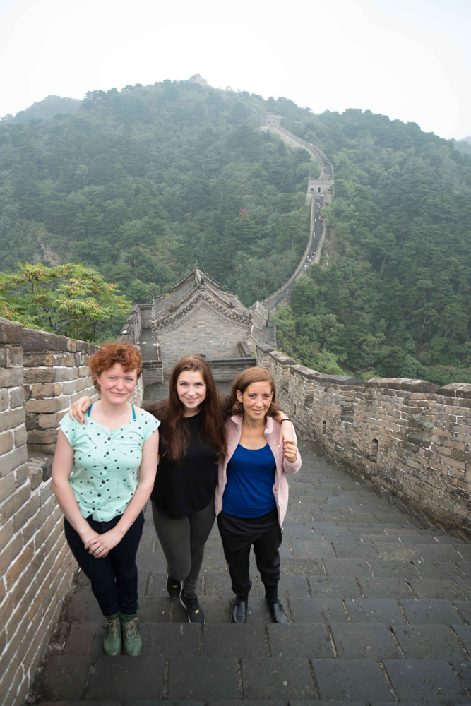 Sarah, Nina and Michelle on The Great Wall